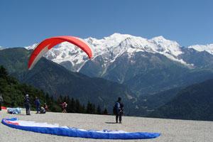 Plaine Joux face au Mont Blanc